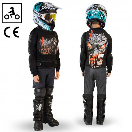 Gilet de protection dirt bike enfant ado Orange