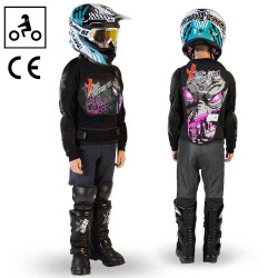 Gilet de protection dirt quad enfant ado Rose