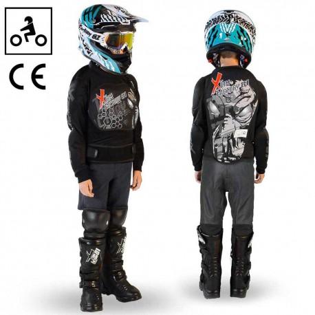 Gilet de protection quad moto enfant ado Noir